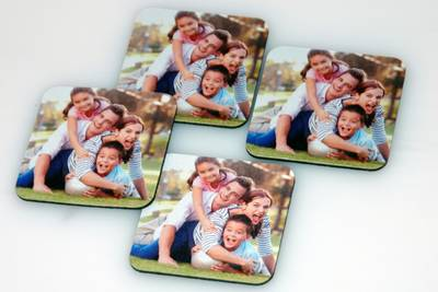 Photo printed on coasters